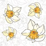 Seamless vector flowers pastel vintage pattern, da Stock Photos