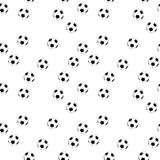 Seamless vector football background. Seamless vector black and white football background Royalty Free Illustration
