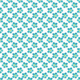 Seamless vector forget-me-not flowers pattern Stock Photo