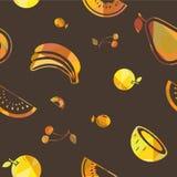 Seamless vector fruit pattern Royalty Free Stock Photos