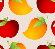 Seamless vector fruits wallpaper Royalty Free Stock Images