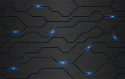 Seamless vector futuristic dark iron techno texture Stock Photography