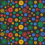 Seamless vector gear and cogwheel background retro Stock Image