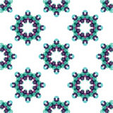 Seamless vector geometric abstract pattern Stock Image
