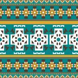 Seamless vector geometric color pattern background royalty free illustration