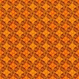 Seamless vector geometric floral pattern in vivid orange color vector illustration