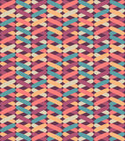 Seamless vector geometric pattern with colorful crosses. Endless zigzag abstract background. Royalty Free Stock Photos