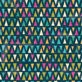 Seamless vector geometric pattern Stock Image