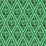 Seamless vector geometric pattern with ornamental elements,endless background with traditional folk motifs. Royalty Free Stock Photography