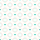 Seamless vector geometric pattern of star-shape spiral elements Stock Image