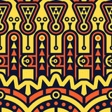 Seamless Vector Geometric Pattern. Techno Tribal Stock Image