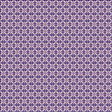 Seamless vector geometric pattern. Violet background with flowers. Stock Photography