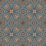 Seamless vector  Geometric print. Abstract Tribal indian mosaic motif seamless pattern. Bohemian  Geometric print Stock Images