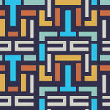 Seamless Vector Geometric Strip Pattern for Textile Design Royalty Free Stock Images
