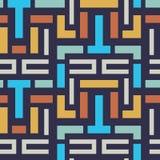 Seamless Vector Geometric Strip Pattern for Textile Design stock illustration