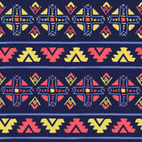 Seamless vector geometric tribal colorful pattern background. For textile, backdrop etc Stock Image