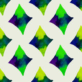 Seamless vector geometric watercolor pattern on Stock Image
