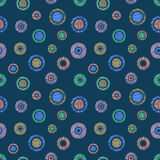 Seamless vector geometrical pattern with circles pastel endless background with hand drawn textured geometric figures. Graphic ill Royalty Free Stock Image