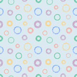 Seamless vector geometrical pattern with circles pastel endless background with hand drawn textured geometric figures. Graphic ill Royalty Free Stock Photo