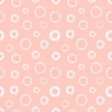 Seamless vector geometrical pattern with circles pastel endless background with hand drawn textured geometric figures. Graphic ill Stock Photo