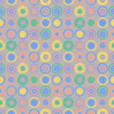 Seamless vector geometrical pattern with circles pastel endless background with hand drawn textured geometric figures. Graphic ill Stock Photography