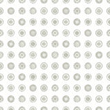 Seamless vector geometrical pattern with circles pastel endless background with hand drawn textured geometric figures. Graphic ill. Ustration, print for wrapping Stock Photos