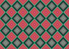 Seamless vector geometrical pattern with rhombus, squares. endless background with drawn textured geometric figures. Stock Photography