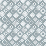 Seamless vector geometrical pattern with rhombus, squares. endless background with hand drawn textured geometric figures. Pastel G Royalty Free Stock Photo