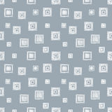 Seamless vector geometrical pattern with rhombus, squares. endless background with hand drawn textured geometric figures. Pastel G Stock Images