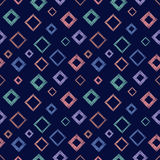 Seamless vector geometrical pattern with rhombus, squares. endless background with hand drawn textured geometric figures. Pastel G Stock Photos