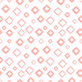 Seamless vector geometrical pattern with rhombus, squares. endless background with hand drawn textured geometric figures. Pastel G Royalty Free Stock Images