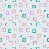 Seamless vector geometrical pattern with rhombus, squares. endless background with hand drawn textured geometric figures. Pastel G Royalty Free Stock Image