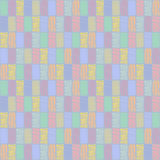 Seamless vector geometrical pattern with rhombus, squares. endless background with hand drawn textured geometric figures. Pastel G Stock Photography
