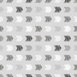 Seamless vector geometrical pattern with rhombus, squares, rectangles endless background with hand drawn textured geometric figure Stock Illustration