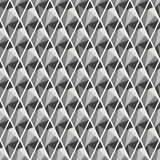 Seamless vector geometrical pattern. Symmetrical background with rhombus in black color. Polygonal design. Geometric triangular origami style, graphic Stock Photography