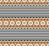 Seamless vector geometrical pattern for textile design Stock Photography