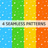 4 Seamless Vector Geometry Patterns Royalty Free Stock Images