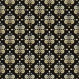Seamless gold and black pattern Royalty Free Stock Image