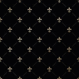 Seamless vector gold pattern with Fleur-de-lis Stock Photos