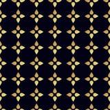 Seamless vector gold pattern. Vector illustration Stock Photos