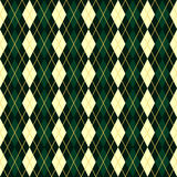 Seamless vector green geometric traditional scottish pattern Royalty Free Stock Photography