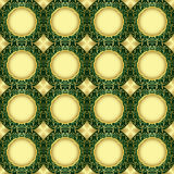 Seamless vector green and gold pattern Royalty Free Stock Image