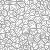 Seamless Vector Grid Pattern. Concentric Gray Shapes on White Stock Photography