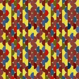 Seamless vector halves rounds colourful bright pattern. For textile, fabric, wrapping, craft, ceramic stock illustration