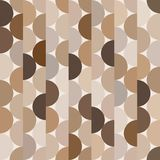 Seamless vector halves rounds colourful brown pattern. For textile, fabric, wrapping, craft, ceramic royalty free illustration