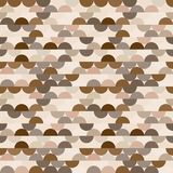 Seamless vector halves rounds colourful coffee pattern. For textile, fabric, wrapping, craft, ceramic stock illustration