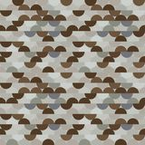 Seamless vector halves rounds colourful metal pattern. For textile, fabric, wrapping, craft, ceramic royalty free illustration