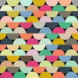 Seamless vector halves rounds colourful pattern. For textile, fabric, wrapping, craft, ceramic vector illustration