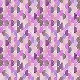 Seamless vector halves rounds colourful pink pattern. For textile, fabric, wrapping, craft, ceramic royalty free illustration