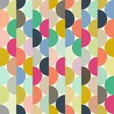 Seamless vector halves rounds colourful vertical pattern. For textile, fabric, wrapping, craft, ceramic vector illustration